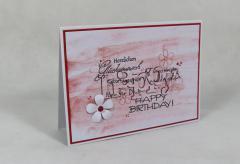 Artikelbild Geburtstagskarte Happy rot