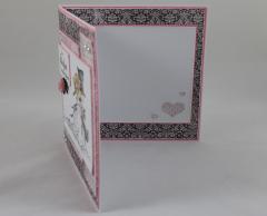 Hochzeitskarte rosa c