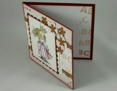 Einschulungskarte rosa/braun 3