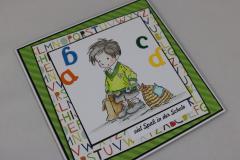 Karte zur Einschulung Buchstaben b