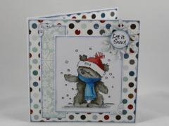 Artikelbild Weihnachtskarte Schnee Bär