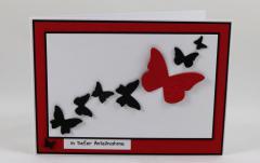 Artikelbild Trauer Karte Schmetterling rot