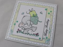 Geburtstagskarte Elefant b