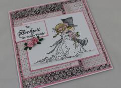 Hochzeitskarte rosa b