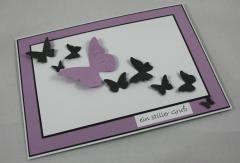Trauer Karte Schmetterling 3
