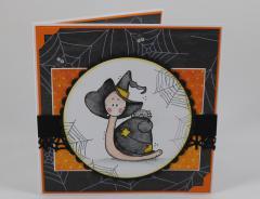 Artikelbild Halloween Karte Schnecke