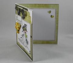Hochzeitskarte gelb/grau 3