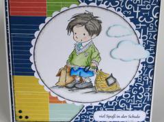 Karte zum Schulanfang Junge&Wolken b