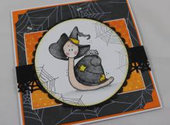 Halloween Karte Schnecke b