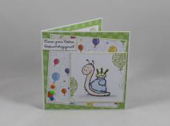 Artikelbild Geburtstagskarte Torten-Schnecke
