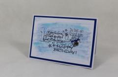 Artikelbild Geburtstagskarte Happy blau