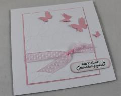 Geburtstagskarte Schmetterlinge b