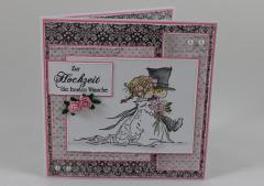 Artikelbild Hochzeitskarte rosa