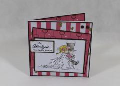 """Artikelbild Hochzeitskarte """"rosa/braun"""""""