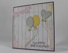 Geburtstagskarte Luftballons b