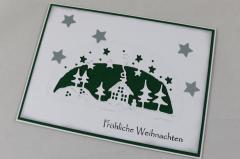 Weihnachtskarte grün b