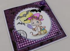 Halloween Karte Fledermaus b