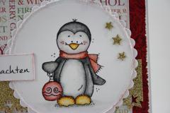 Weihnachtskarte Pinguin b