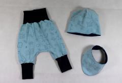 """Artikelbild Babyset """"Tierkinder blau"""" Gr. 50/56"""
