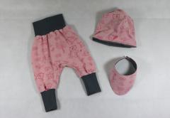 """Artikelbild Babyset """"Tierkinder rosa"""" Gr. 62/68"""